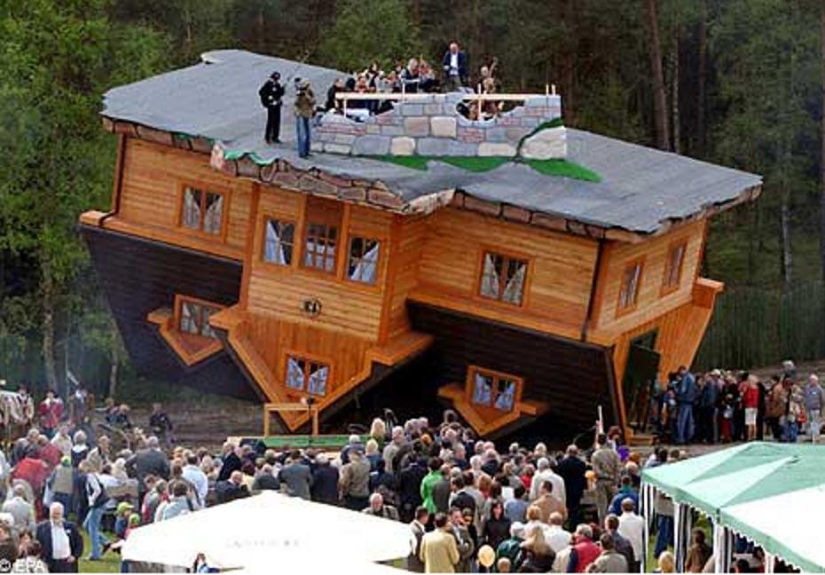 Upside Down House Poland Interior
