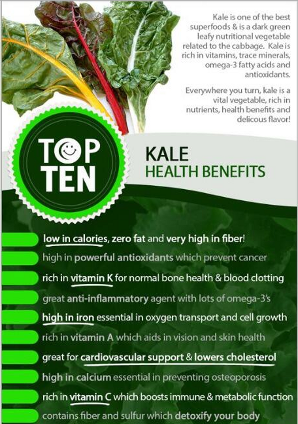 kale health benefits  u0026 recipes